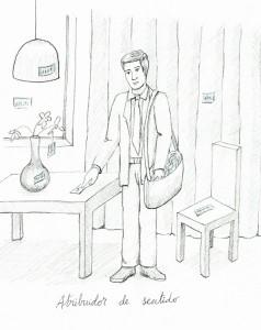 Atribuidor de sentido, 21x15 cm, grafito sobre papel