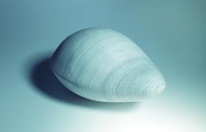 El sembrador de dudas (objeto), 2017, Papel encolado, 16 x 23 x 30 cm.